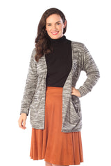 3146 Grey Space Dye  Cardigan