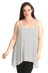 1293 White Polka Dot Tank Top