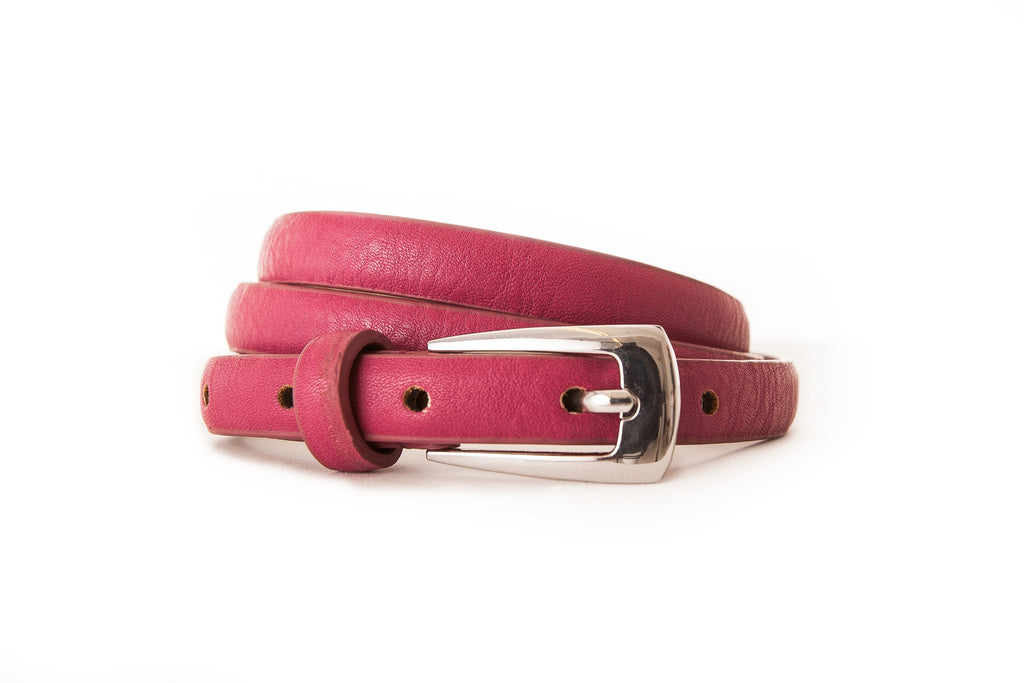 4014 Cerise Abstract Buckle Belt