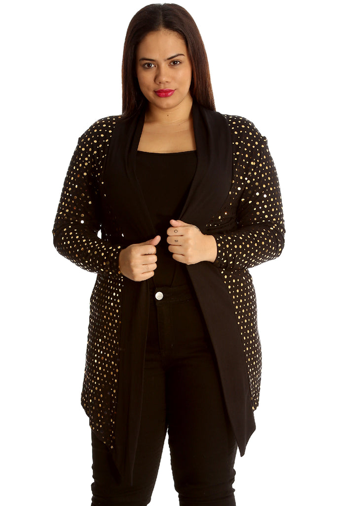 3204 Gold Polka Dot Foil Cardigan