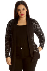 3204 Red Polka Dot Foil Cardigan