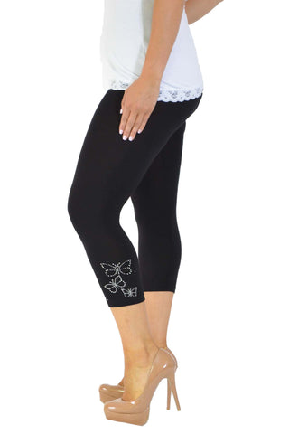 Butterfly Foil Cropped Leggings