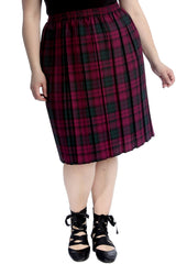 Tartan Print Pleated Skirt
