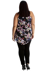 Butterfly Floral Chiffon Top