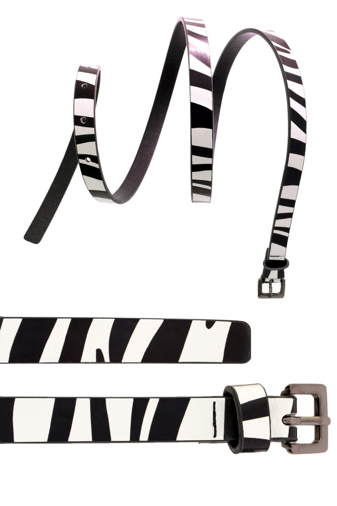4015 Silver Zebra Waist And Hip Belt