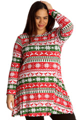 Fairisle Reindeer Print Swing Top