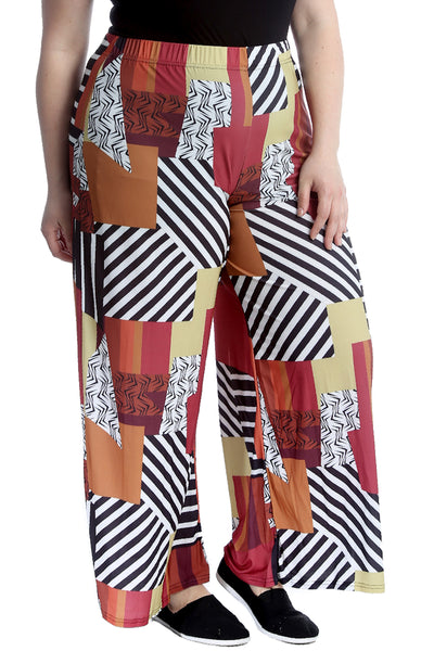 Abstract Print Palazzo Trouser