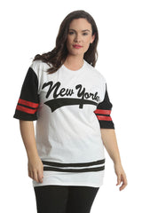 1403 White New York Varsity T Shirt