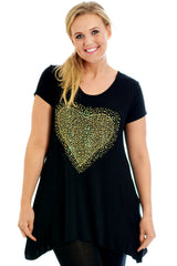 Gold Studded Heart Top