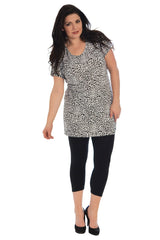 1169 White Leopard Print Monochrome Top