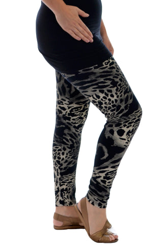 Abstract Animal Print Leggings