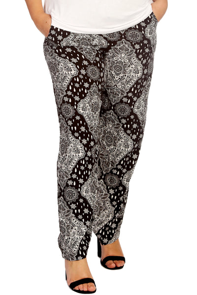 Moroccan Tile Paisley Print Trousers
