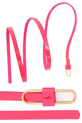 4013 Hot Pink Loop Buckle Waist And Hip Belt