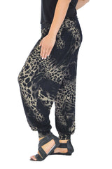 7031 Black Abstract Leopard Print Ali Baba