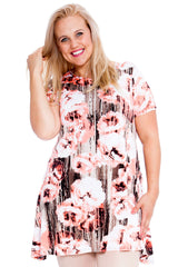 Abstract Floral Print Tunic