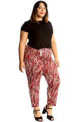 Artsy Print Trousers