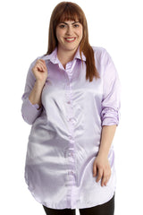 Plain Satin Shirt