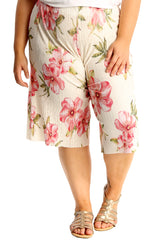 Floral Print Crinkle Culottes