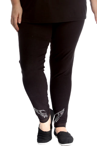 Angel Wings Stud Jeggings