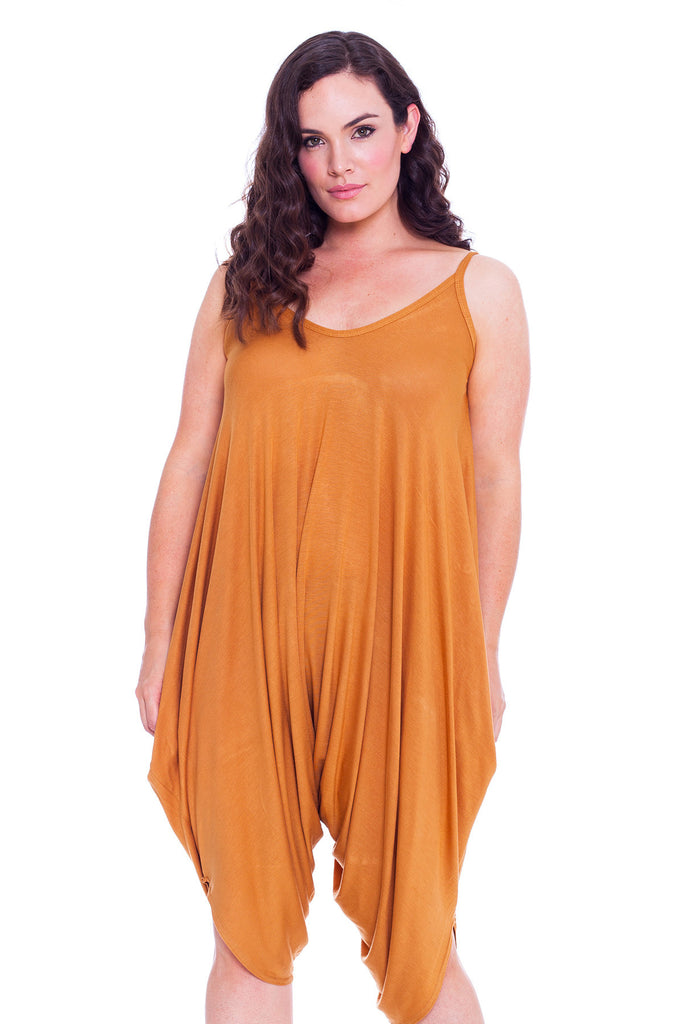 8020 Gold Plain Slouch Jump Suit