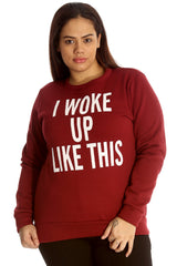 3109 Wine I Woke Up Like This Sweatshirt