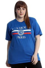 L'Amour Paris Print Cotton T-Shirt