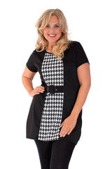 Dogtooth Buckle Dress