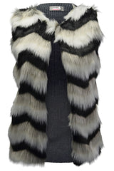 3200 Brown Faux Fur Gilet