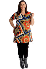 Abstract Print Swing Top
