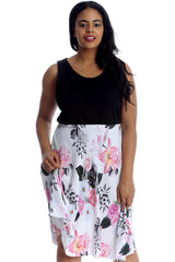 2 in 1 Floral Sleeveless Dress