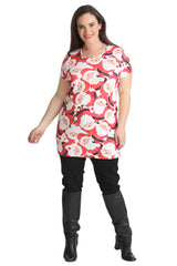 1430 Red Santa Tunic Top