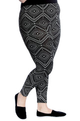 Tile Print Print Leggings