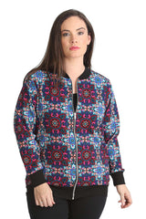 Paisley Mirror Effect Bomber Jacket