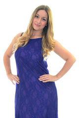 2053 Purple Lace Lined Spanish Dress
