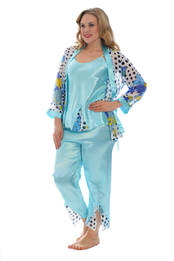 9016 Baby Blue Polka Dot Nightwear