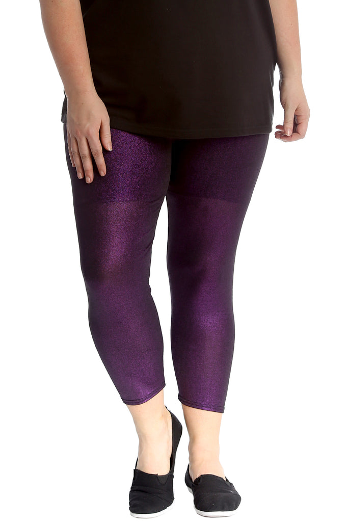 Glitter Fabric Disco Leggings