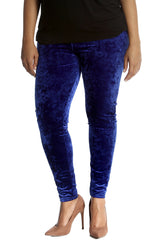 7137 Wine Full Length Velvet Leggings