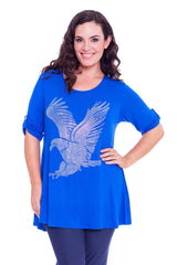 1316 Royal Blue Eagle Stud Top