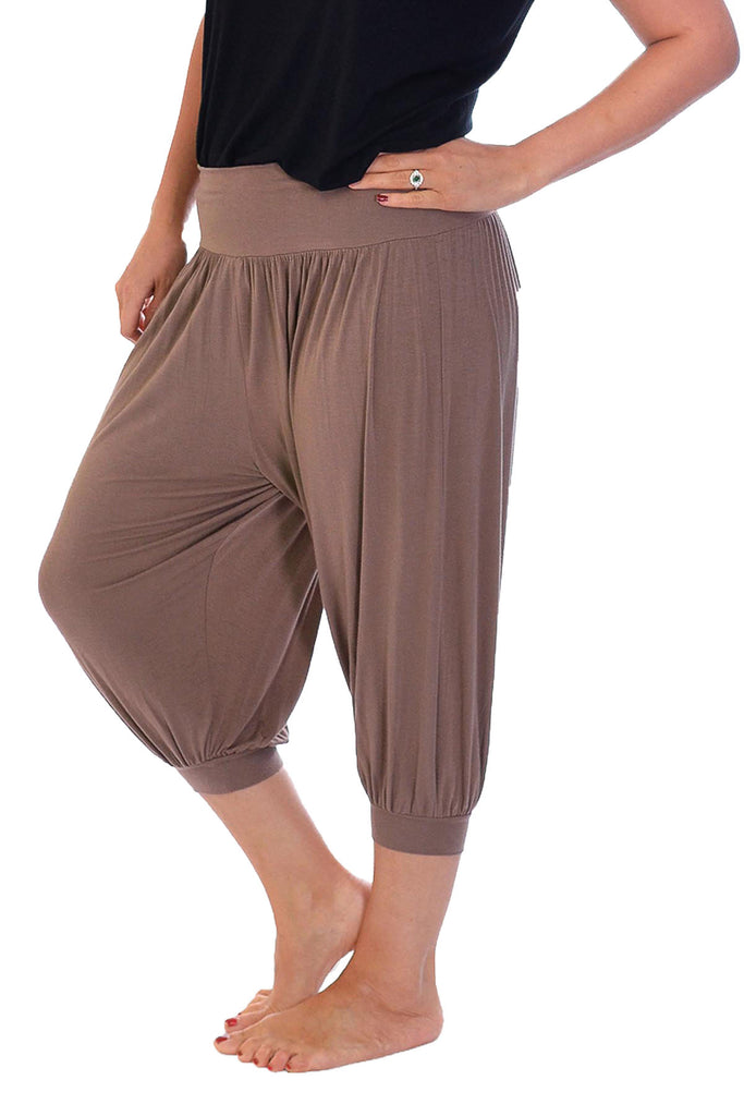 7021 Mocha Cropped Ali baba Trousers