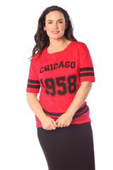 1337 Red Chicago 1958 T-Shirt