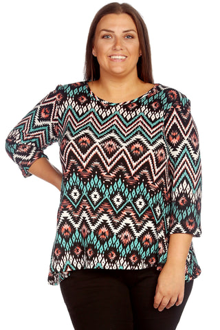 Waves Print Swing Top