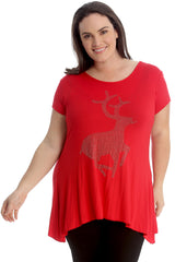 Studded Reindeer Top