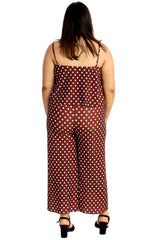 Bold Polka Frill Neck Jumpsuit