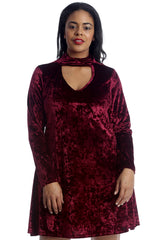 1501 Black Plain Velvet Swing Top