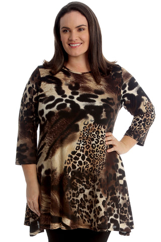 Animal Tiger Print Swing Top