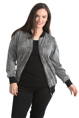 3194 Wine Textured Jacquard Bomber Jacket