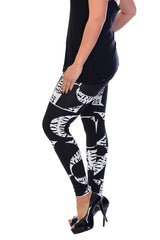 7022 Black Love Print Leggings