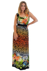 Animal Butterfly Maxi Dress