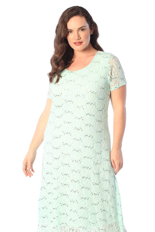 Short Sleeve Flapper Dress