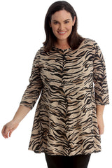 Tiger Print Swing Top